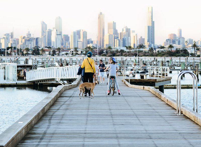 Magical Melbourne skyline St Kilda Pier