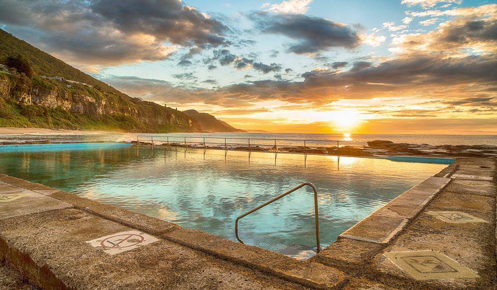 The legendary Coalcliff Pool, near Wollongong.