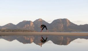 Private yoga sessions Saffire Freycinet Tasmania