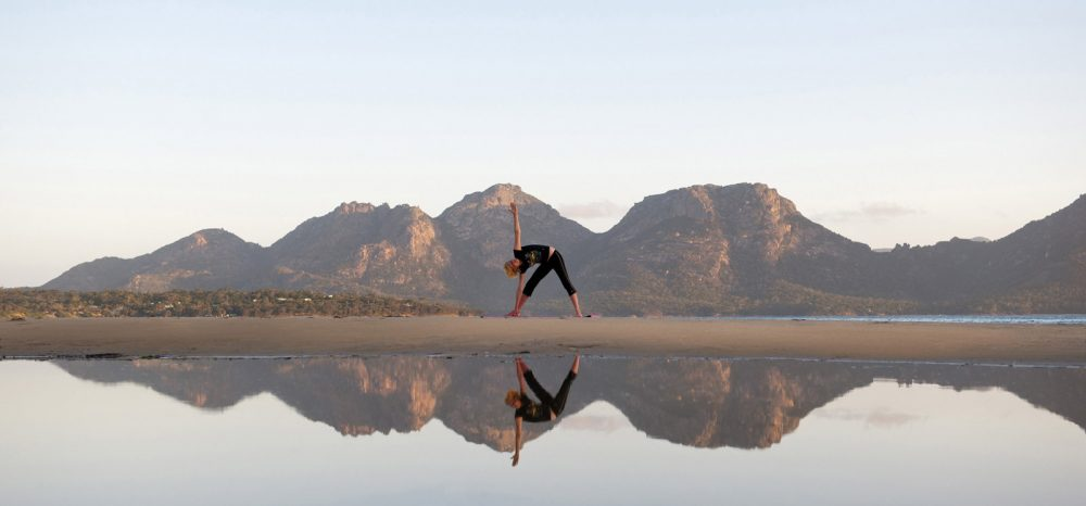 Enjoy private yoga sessions in the pristine outdoors, or in the private of your own suite, at Saffire Freycinet.