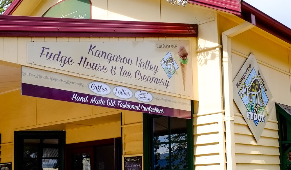 Cute as a button confectionery store:  Kangaroo Valley Fudge House .