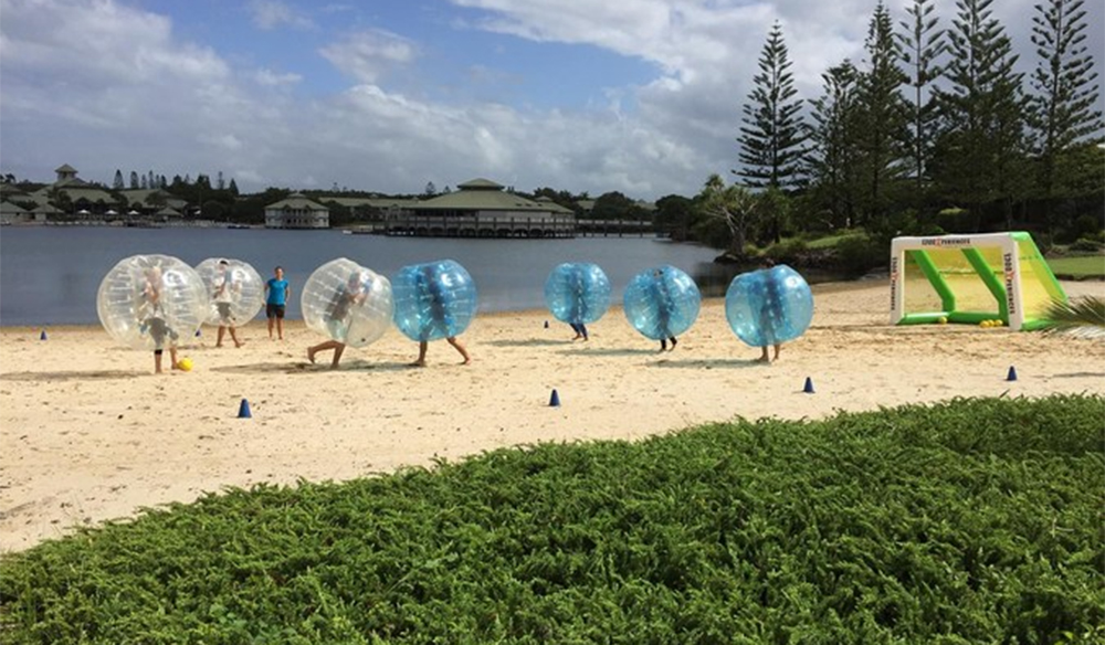 Zorbing activities exist to keep the kids entertained