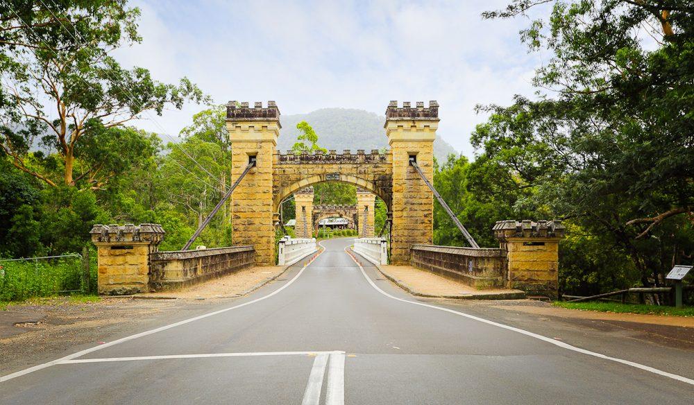 The historic Hampden Bridge leading into Kangaroo Valley.