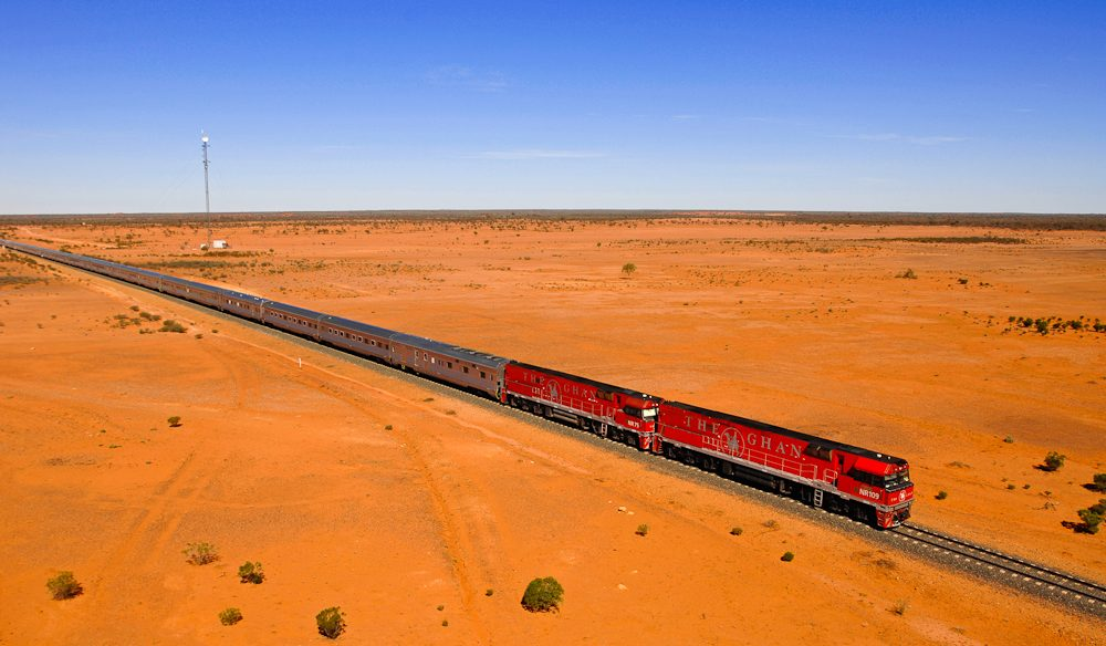 Australia's Red Centre on board The Ghan.