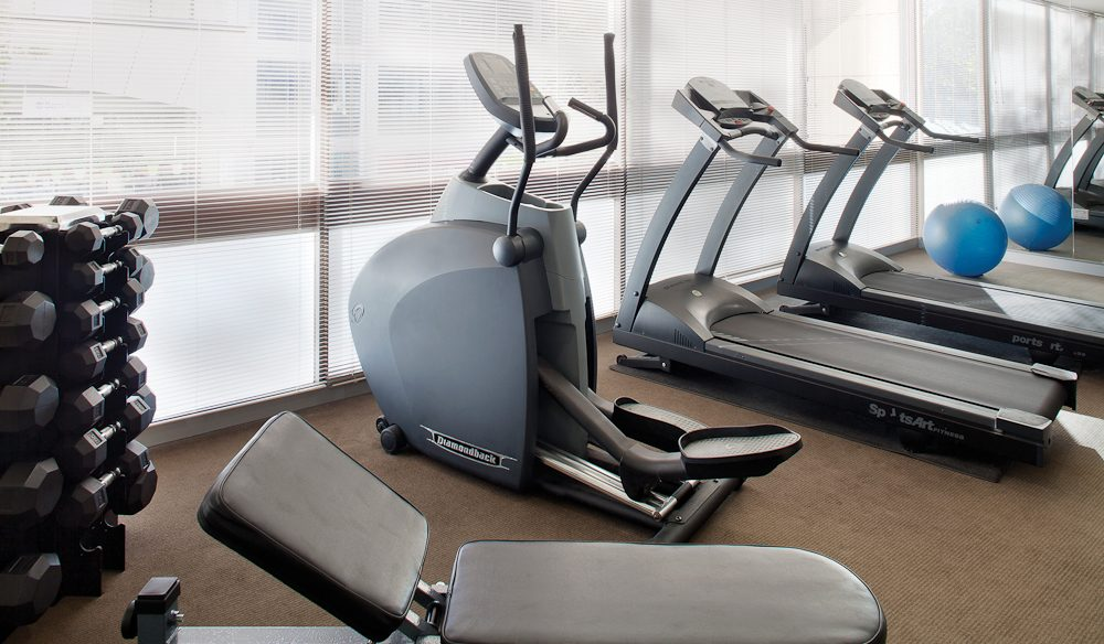 Fit and fresh: Travelodge Perth gym.