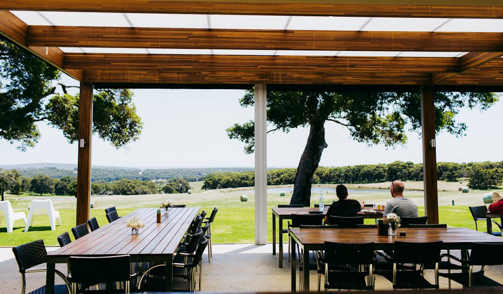 Eagle Bay Brewing Co's lovely al fresco space (photo: Aimee Dehaan).