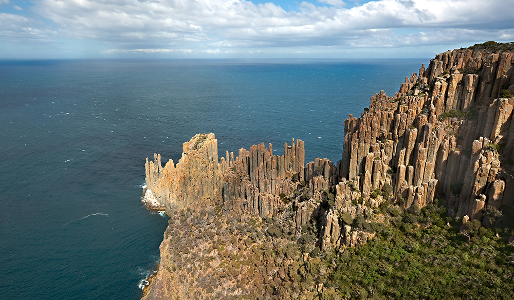 Cape Raoul cliffs in Tasmania