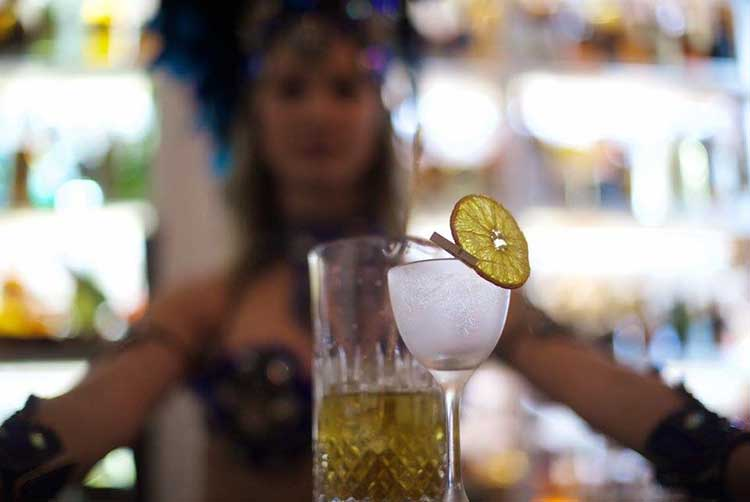 Cocktail making at Canberra's Highball Express.