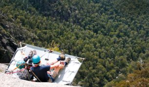 Mt Buffalo National Park with a portaledge picnic