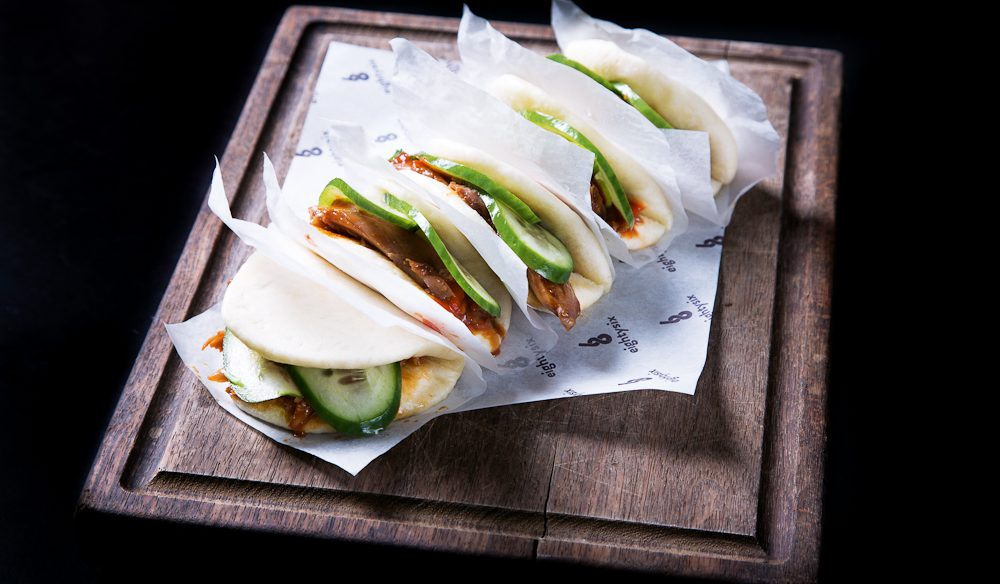 Fresh, fragrant duck buns from eightysix.