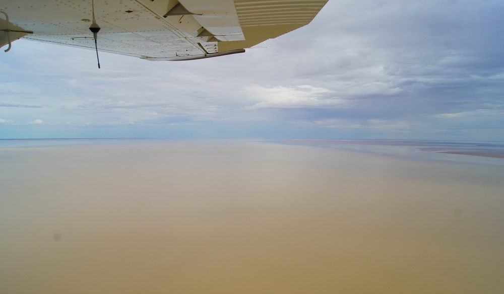 Looking up Warburton Groove (Kati Thanda) Lake Eyre North.
