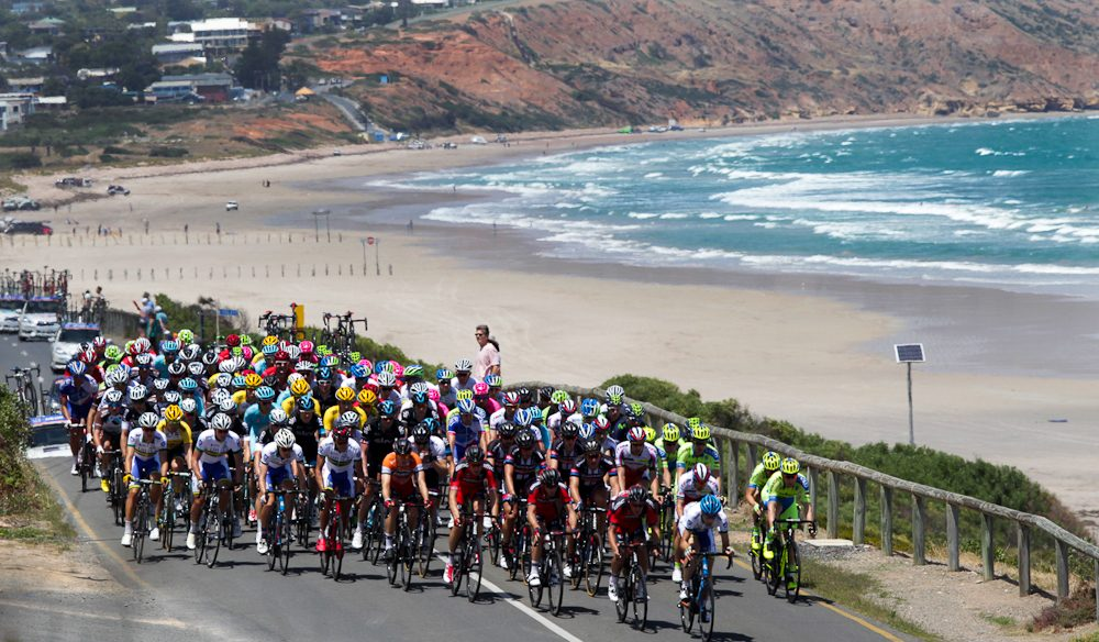Beach boys - You can catch the Tour Down Under cyclists in the most spectator-friendly spots in Adelaide.