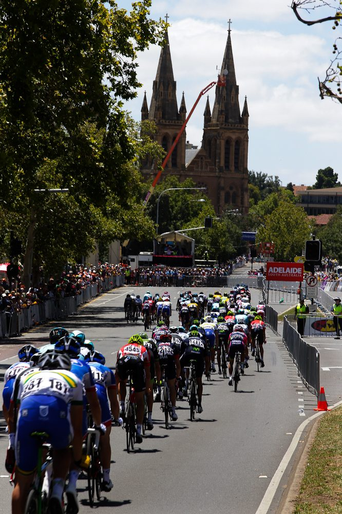 The race that gets a city cycling - The Tour Down Under threads through Adelaide.