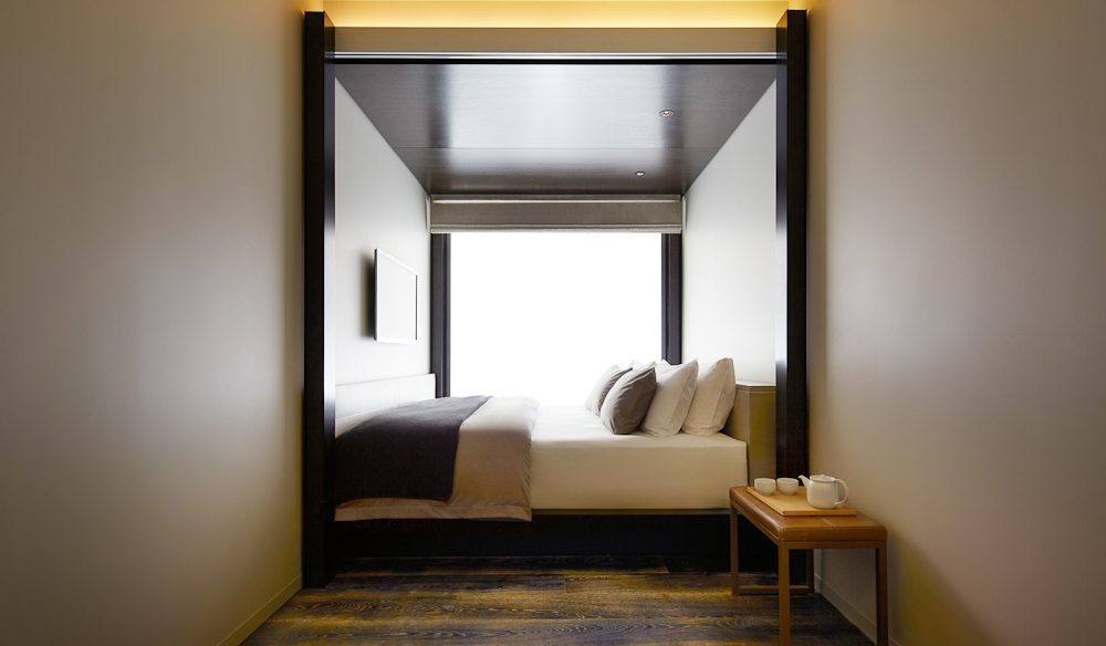 The Little National's rooms are backed by floor-to-ceiling glass.