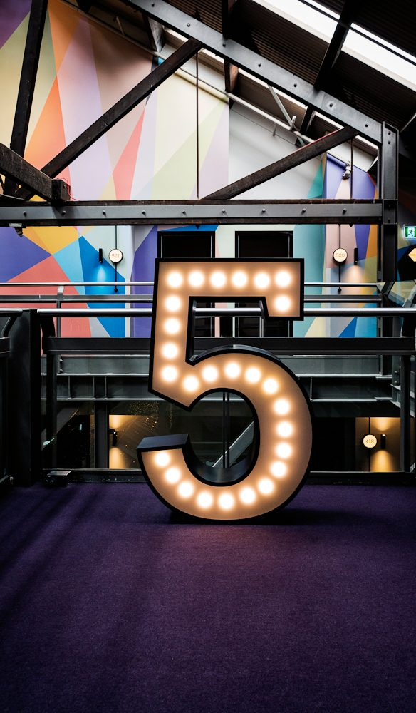 5 is alive - Ovolo's styling is youthful and energetic.