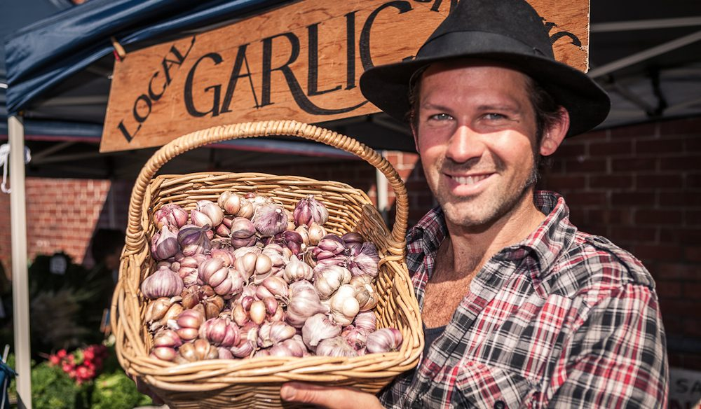 Tasmanian garlic straight from the farm (photo: Nick Osborne).
