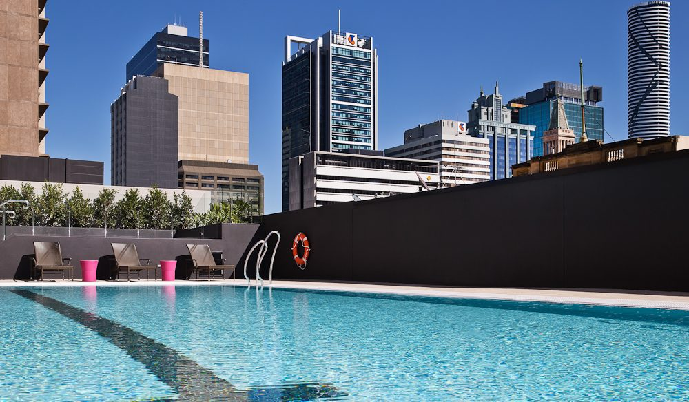 Cool in the pool, Hilton Brisbane.