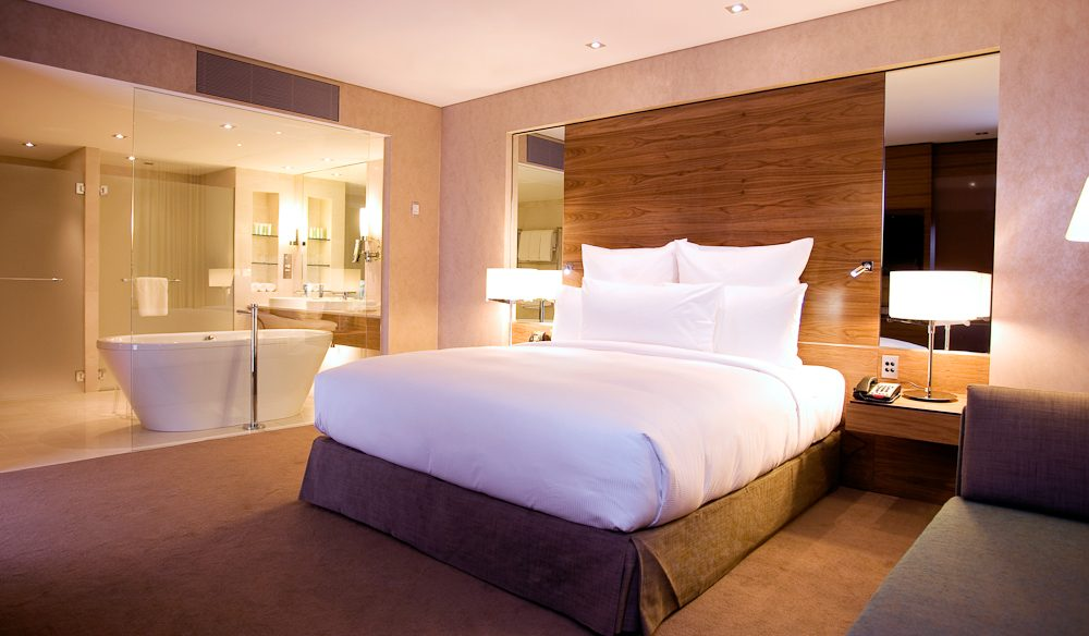 Retire to the king suite, Hilton Brisbane.