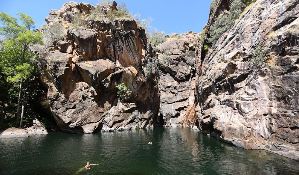 Lunchtime swimming at Motor Car Falls in Kakadu National Park (photo: Jenniger Pinkerton).