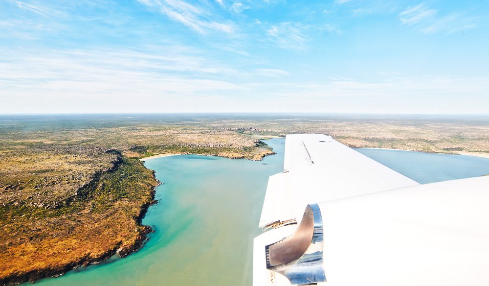 On approach to Faraway Bay in the North Kimberley (photo: Ewan Bell).