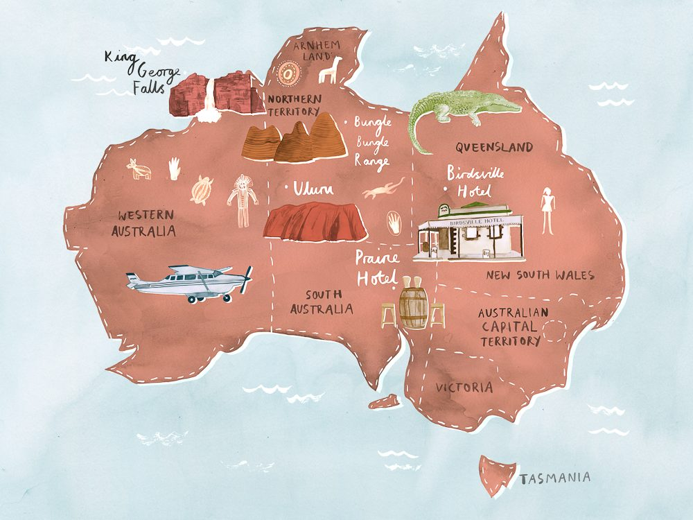 Route map - the ultimate outback air adventure?