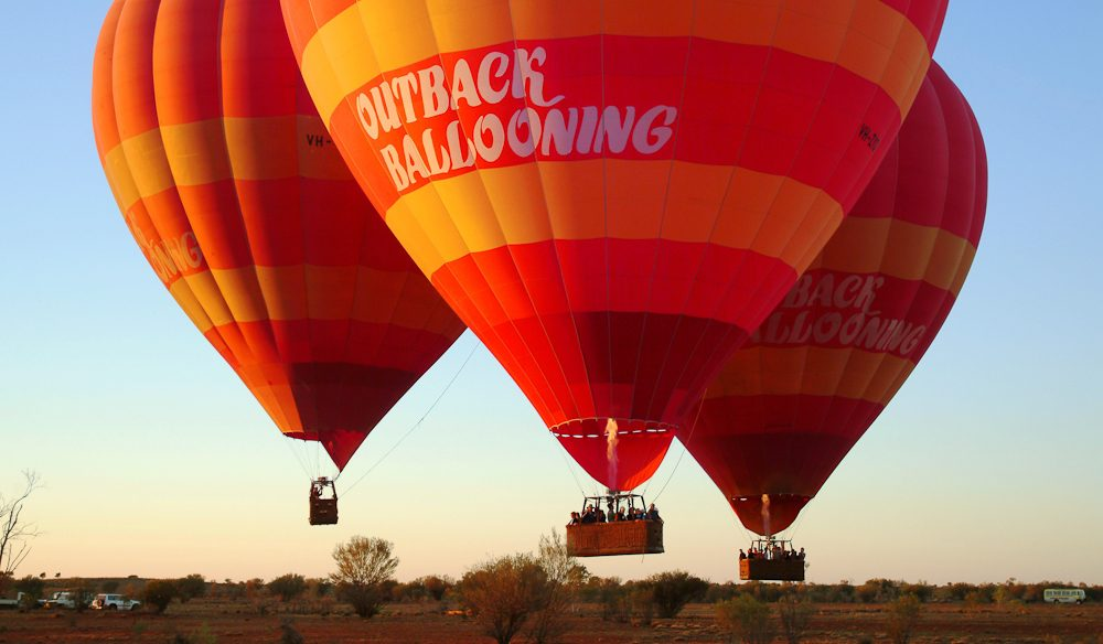 Rising above the Red Centre with Outback Ballooning.