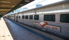 The 744-metre-long, Perth bound train departs from Sydney's Central Station. (photo: Josie Withers)