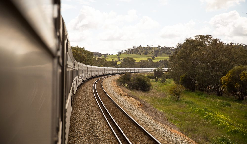 The winding Indian Pacific