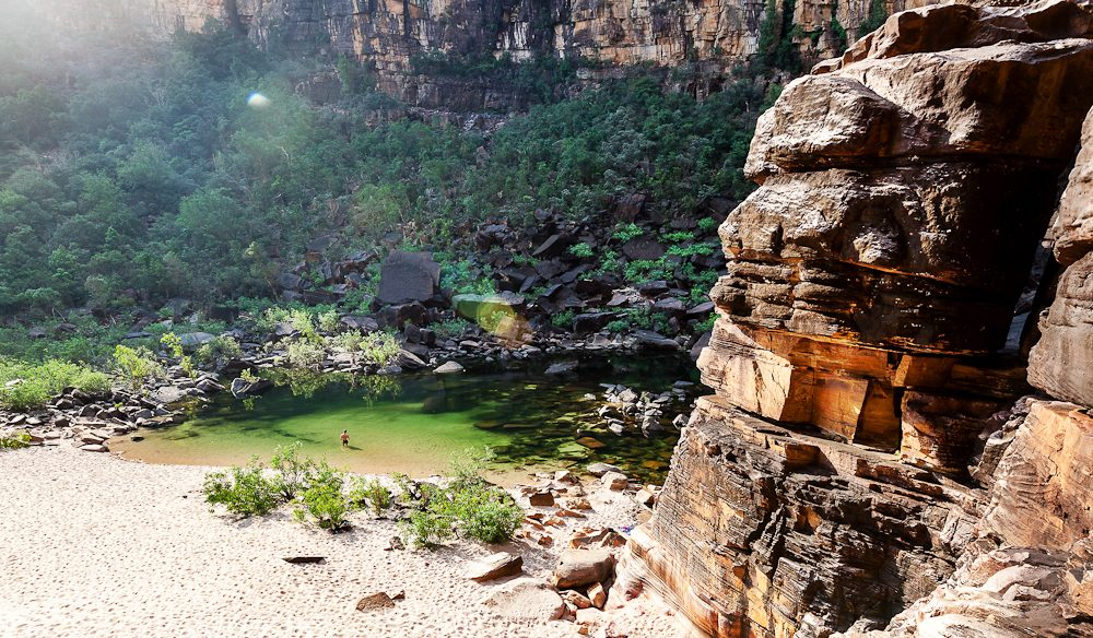 The bucket-list swimming spot: Jim Jim Falls in Kakadu National Park (photo: Sarah Mackie).