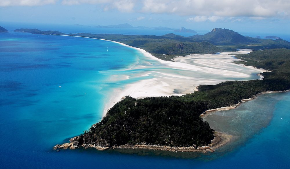 Hill Inlet's kaleidoscope of sand and sea.