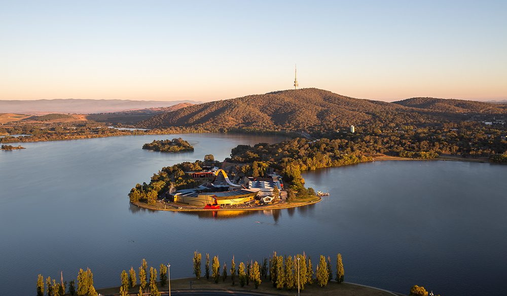 Out on its own: National Museum of Australia, Canberra.