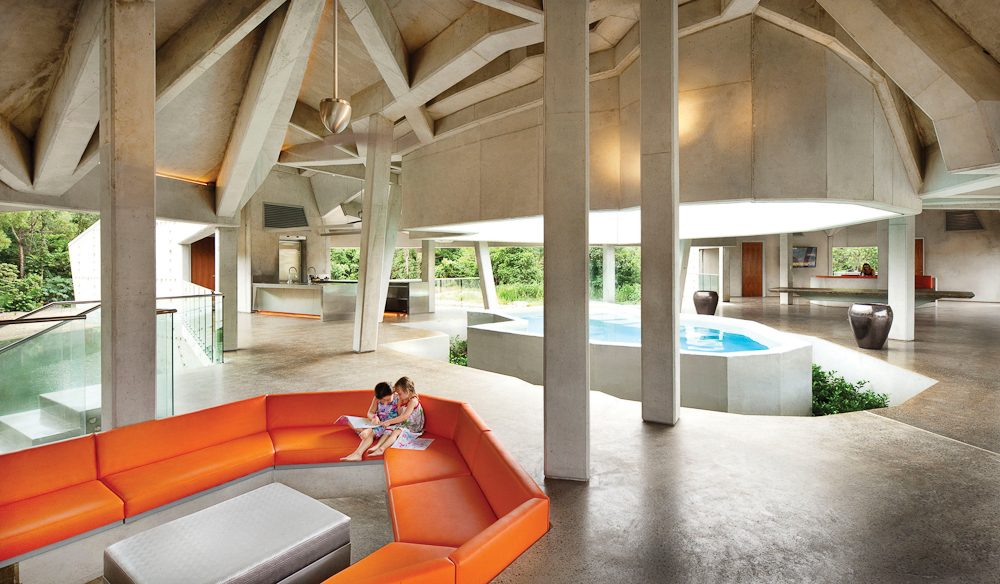Feel like a Bond villain in comfort - at Alkira, Cape Tribulation.