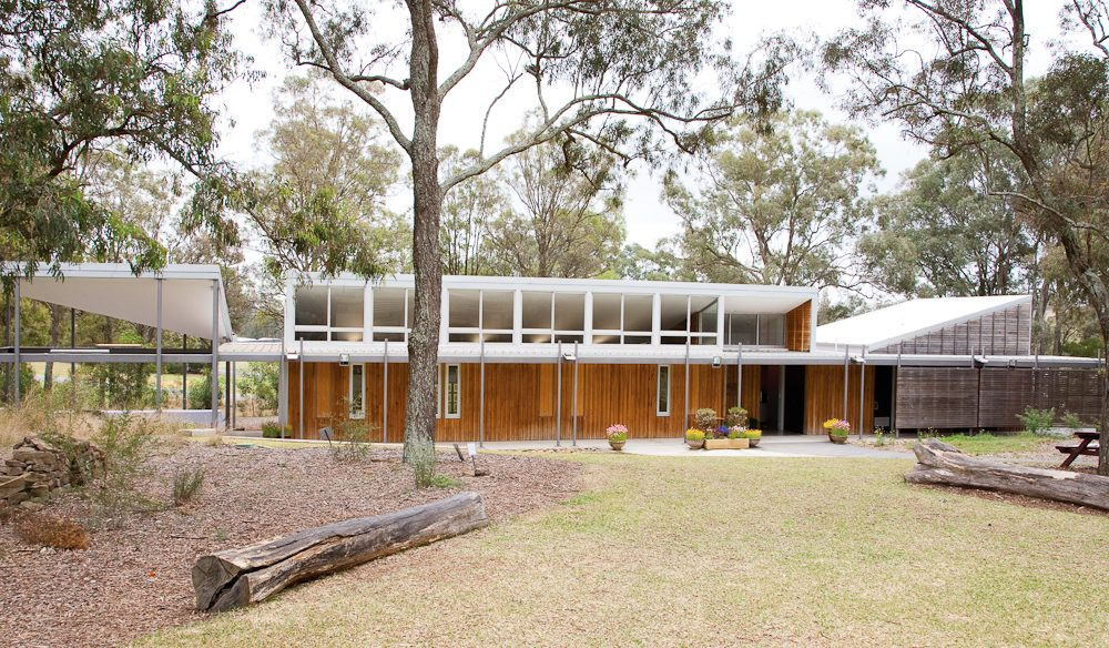 The Bowden Centre in Mount Annan, NSW, is set amid The Australian Botanic Garden. Its simple, elegant and sustainable design won the Sir John Sulman medal for Outstanding Architecture in 2008 (photo: Bart Maiorana).
