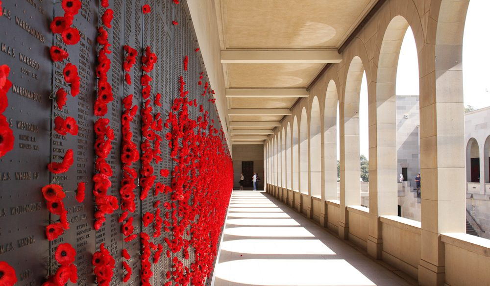 The poppy-strewn Roll of Honour, Australian War Memorial (photo: Steve Madgwick).