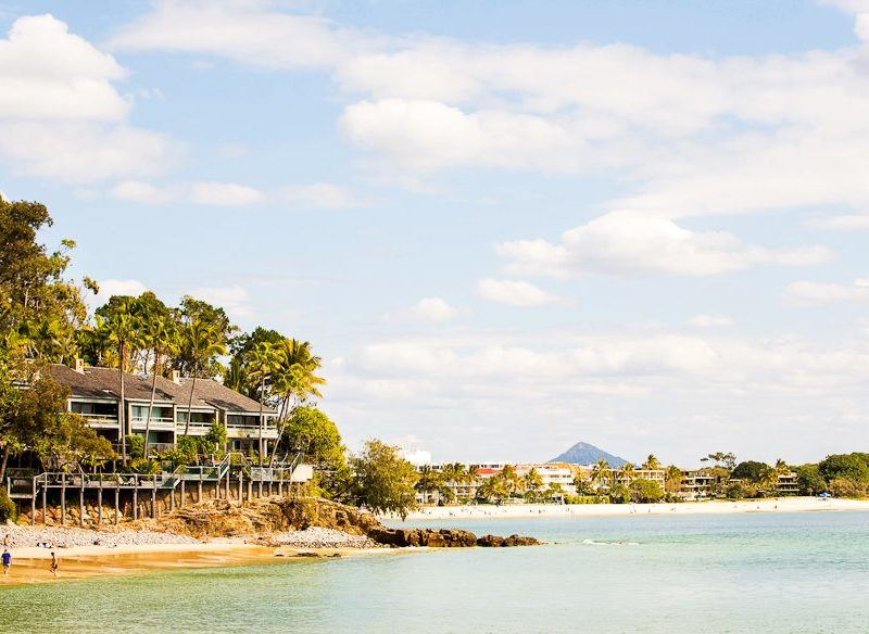 Holiday homes perched on Noosa's Little Bay