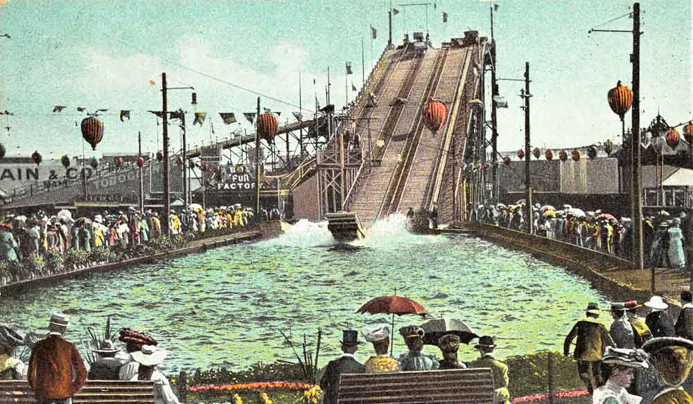 Melbourne's original thrill seekers take on the Prince's Court waterslide.