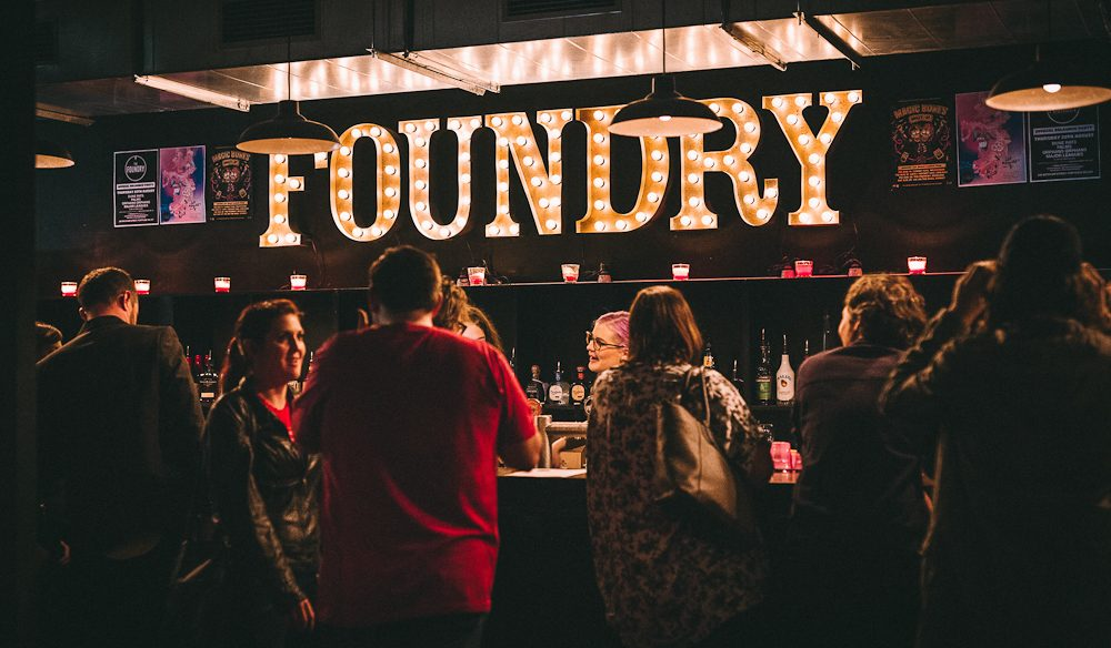 Mixing it up at The Foundry bar.