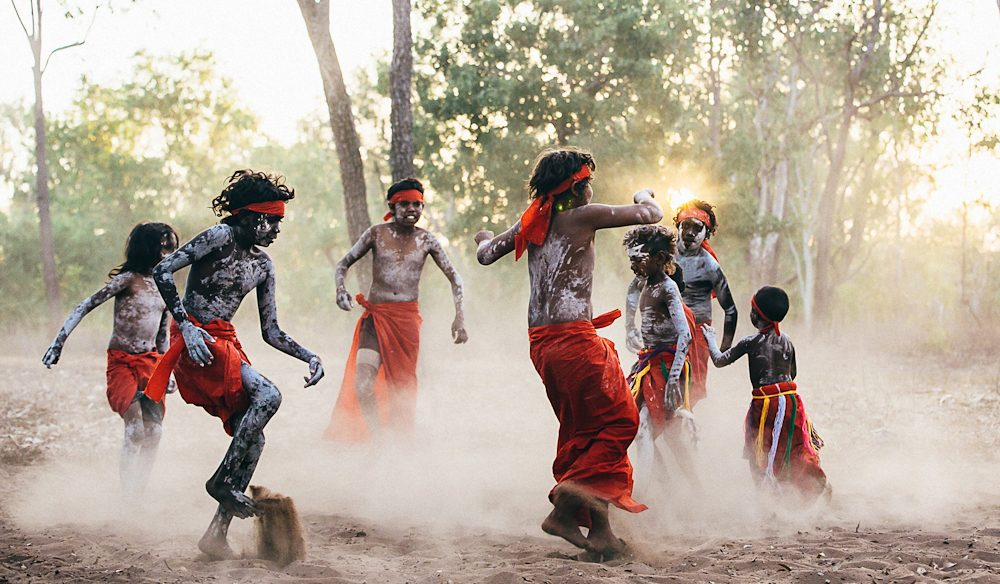 The next generation perform their ceremony, Bulman, East Arnhem Land (photo: Elise Hassey).