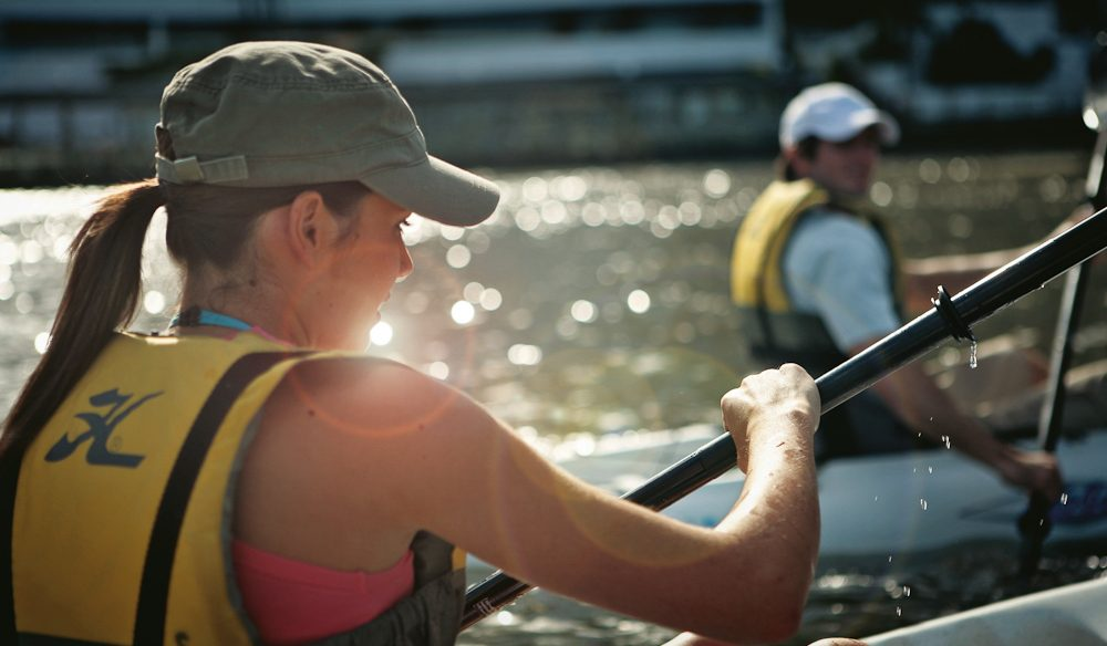 Watch the Friday afternoon commute from the safety of a kayak