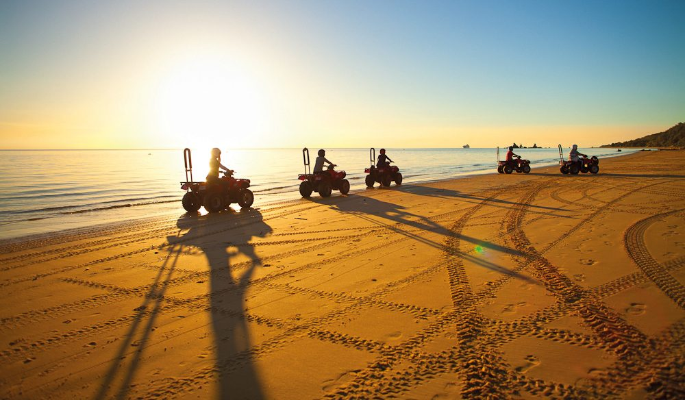 The endless sands of Moreton Island's beaches are made for quad biking