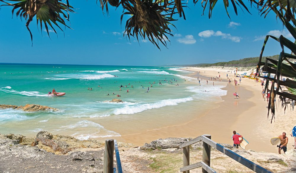 North Stradbroke, a white-sand beach that won't wash away your budget.