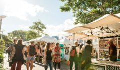 You'll find the weekly Collective Markets at the end of Stanley Street Plaza (photo: Dylan Evans).