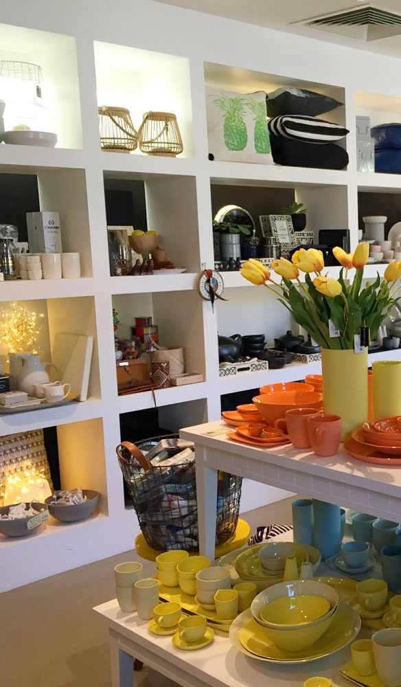 Kova Lifestyle packs a colourful homewares punch into a cute corner shop in the James Street precinct.