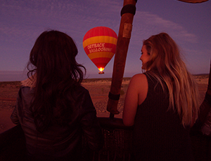 Outback Ballooning Experience at sunset