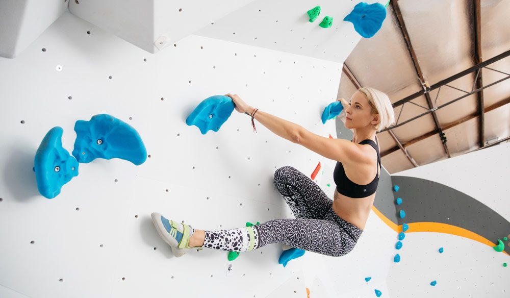 Really get your heart pumping with an indoor rock climb at Urban Climb.