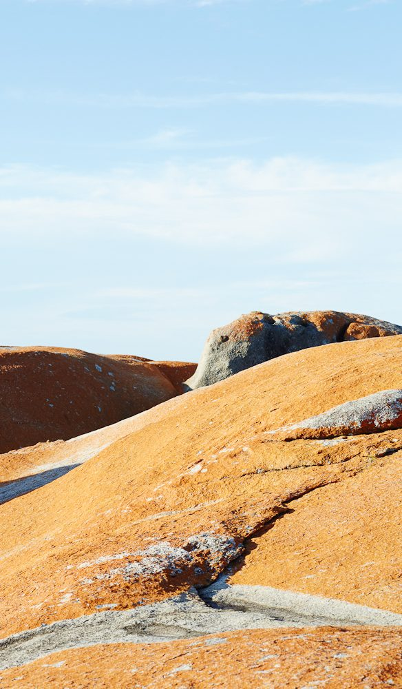 ochre boulders Bay of Fires
