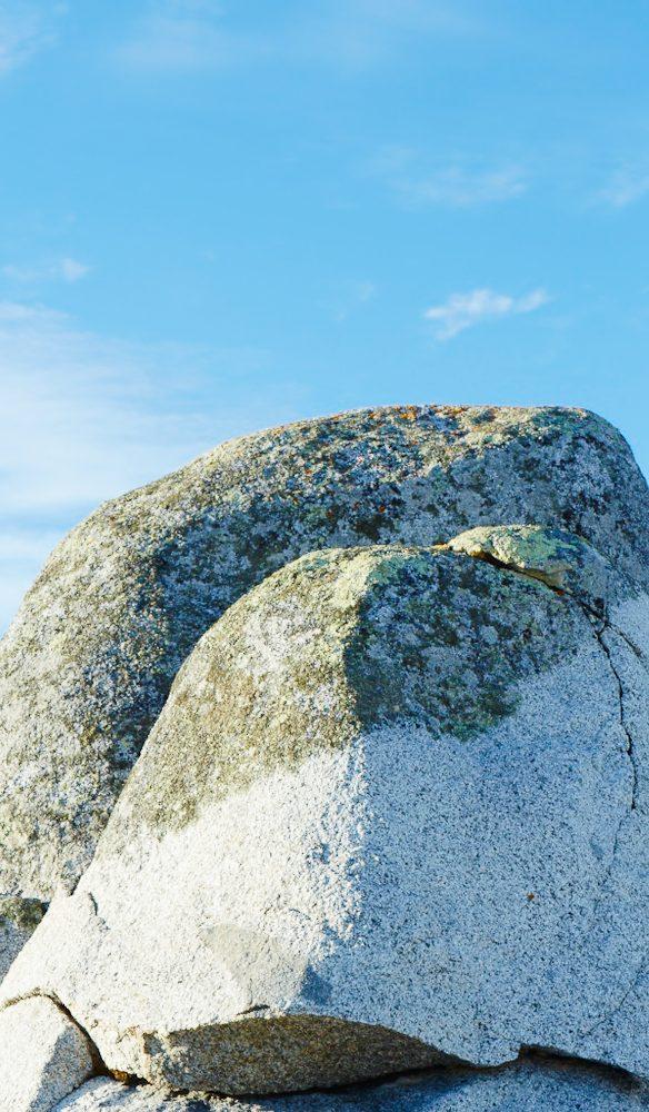 Blue hued rock Bay of Fires