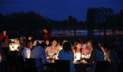 Three courses at the bush-tucker inspired Field of Light Dinner (photo: Mark Pickthall).