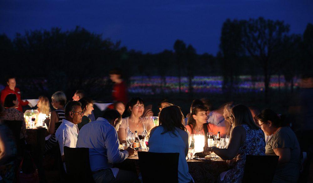 Delightful ... Three Courses At The Bush Tucker Inspired Field Of Light Dinner (photo:  Mark ...