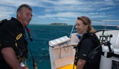 The smile says it all – divers at Heron Island (photo:  Stuart Ireland).
